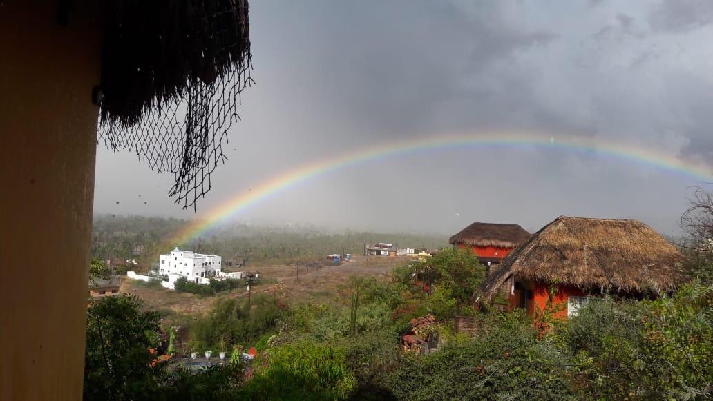 Riding a rainbow to Casa Oasis Todos Santos Vacation Rental