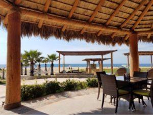 El Faro Beach Club & Spa Palapa Dining a favorite of Casa Oasis Todos Santos Vacation Rental
