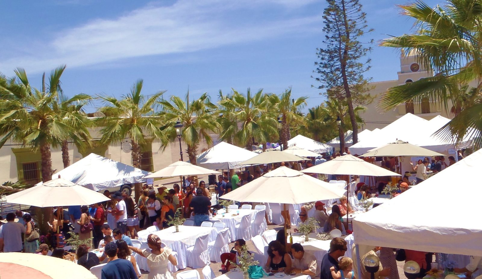 Enjoying Food & Wine at GastroVino, an annual favorite for guests of Casa Oasis Todos Santos Vacation Rental