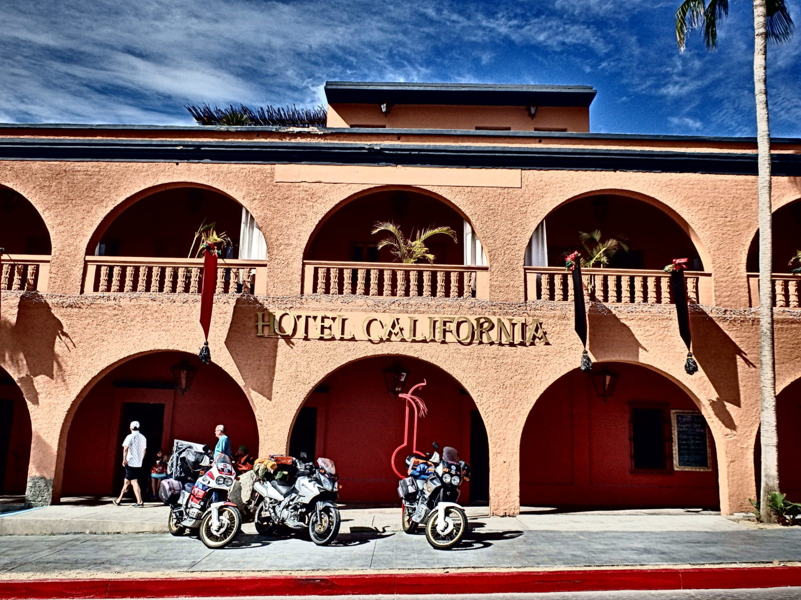 Legendary Hotel California draws all the tourists, including our guests at Casa Oasis Todos Santos Vacation Rental