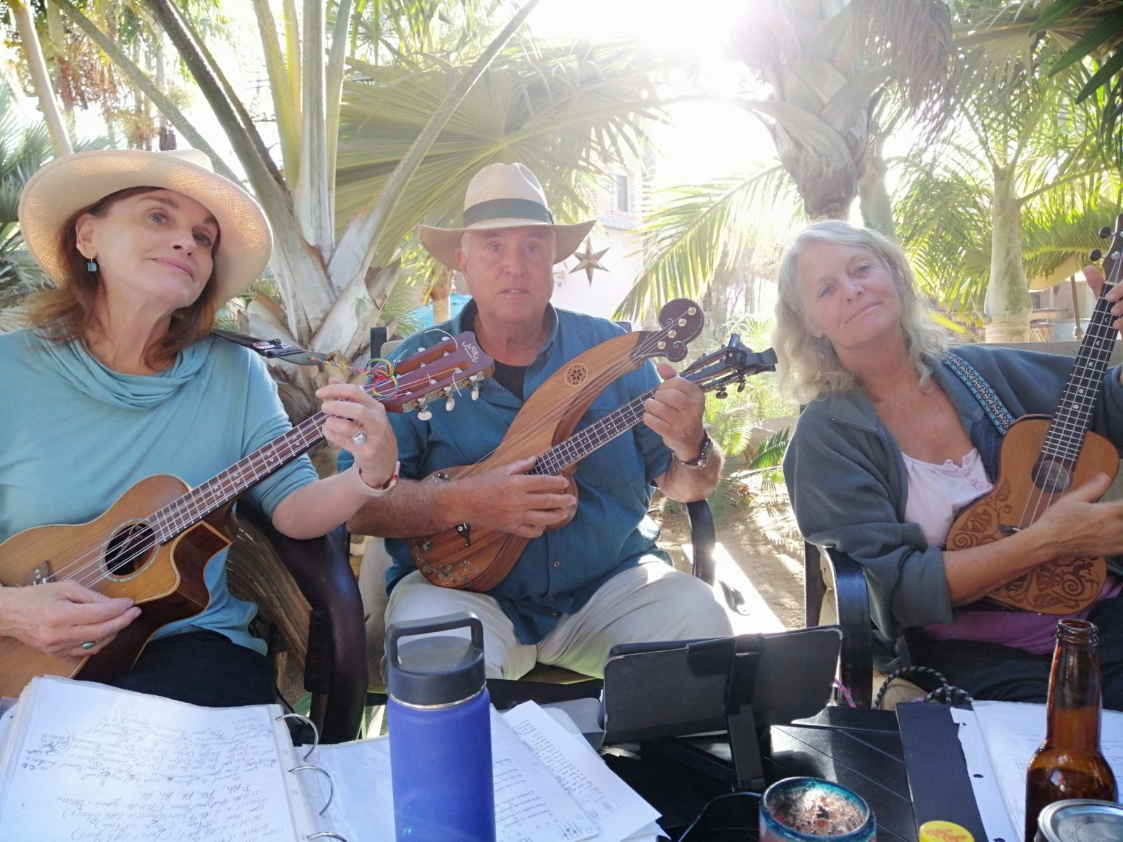 Guests of Casa Oasis Todos Santos Vacation Rental are welcome to borrow a ukulele and join our weekly Ukulele Club gatherings at Teatro Luna Azul
