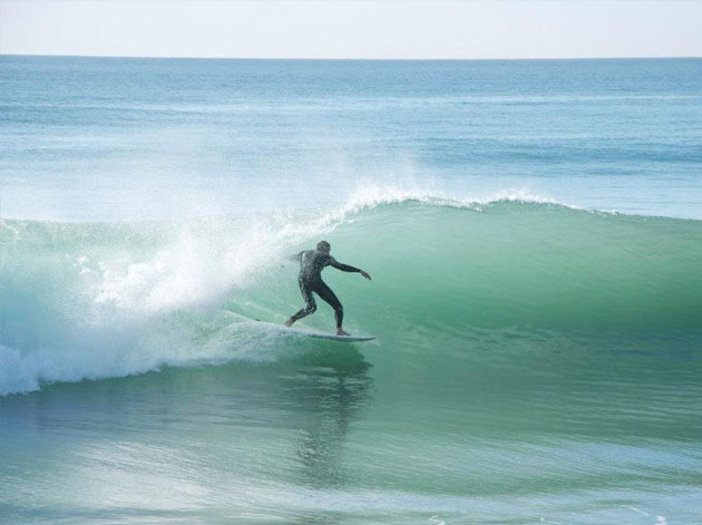 Morning surf about 4 miles north of Casa Oasis Todos Santos Vacation Rental
