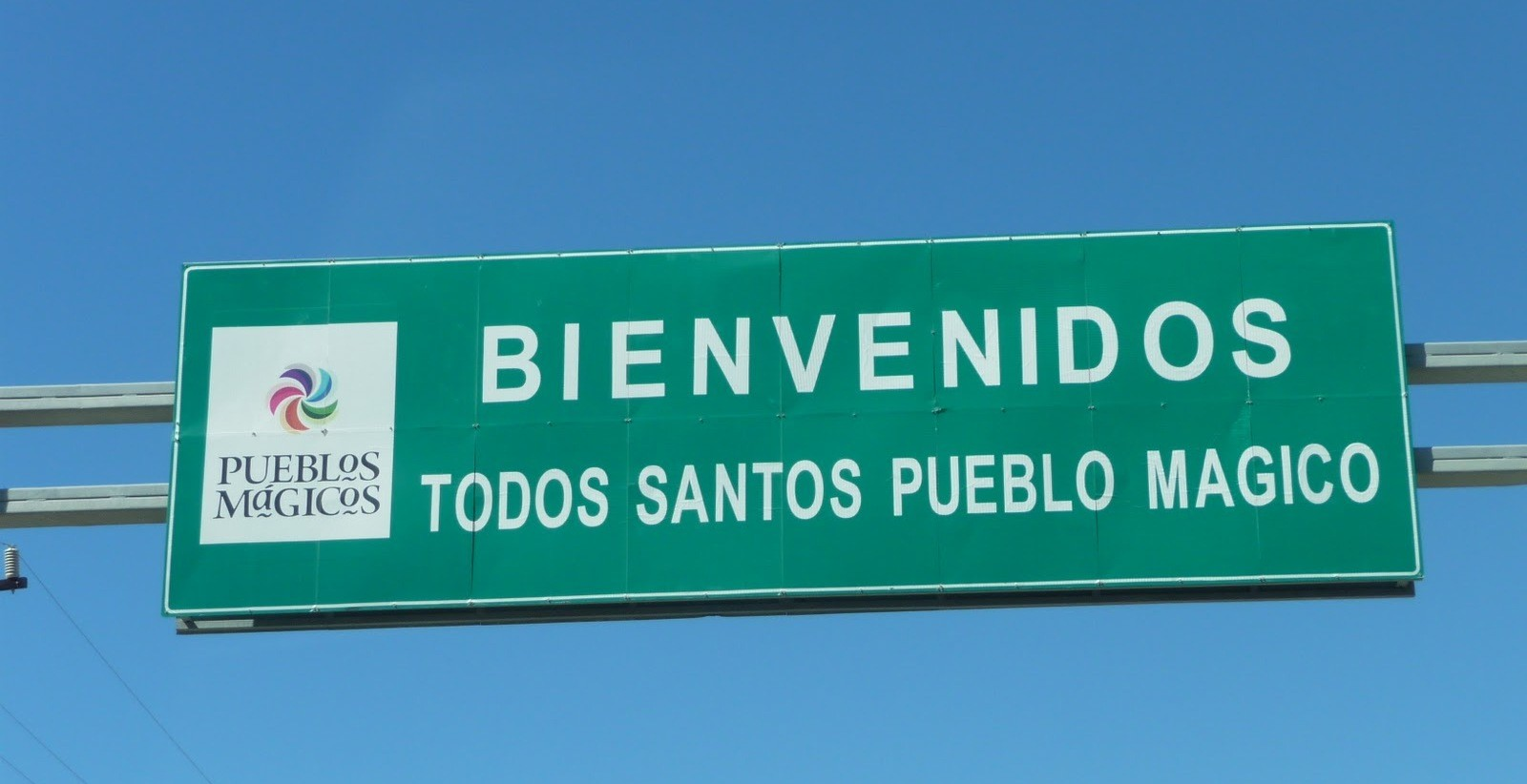 Welcome sign for our guests finally arriving from the airport to Casa Oasis Todos Santos Vacation Rental
