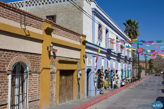 Old Town Side Street in Todos Santos is a ten minute drive from Casa Oasis Todos Santos Vacation Rental