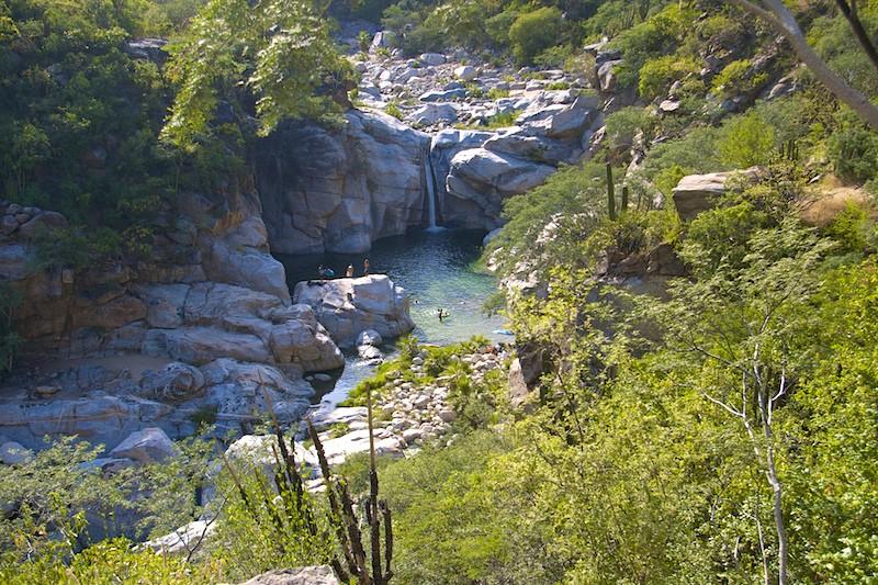 Sierra de Laguna waters provide nature's swimming pools 16 miles to the northeast of Casa Oasis Todos Santos Vacation Rental